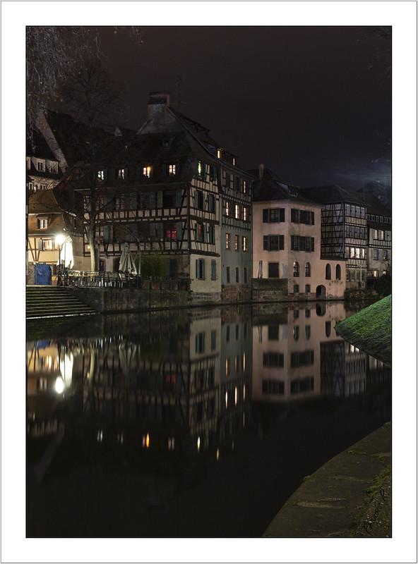Quartier de la petite France en nocturne (Strasbourg)