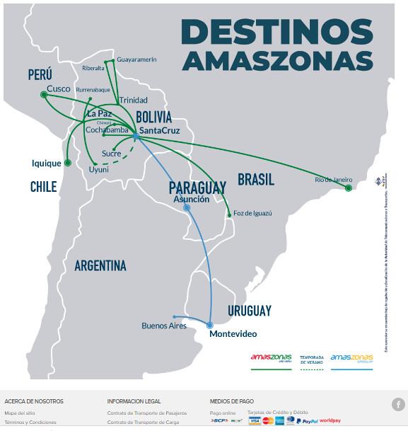 Destinos Amaszonas