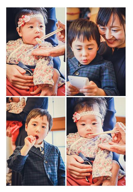 お食い初め 女の子赤ちゃん あーんとお口を開けて 木曽路 愛知県名古屋市