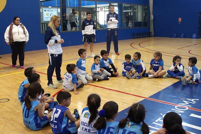 SOCIAL |  Bulić y Cuevas visitan la escuela de la FMB