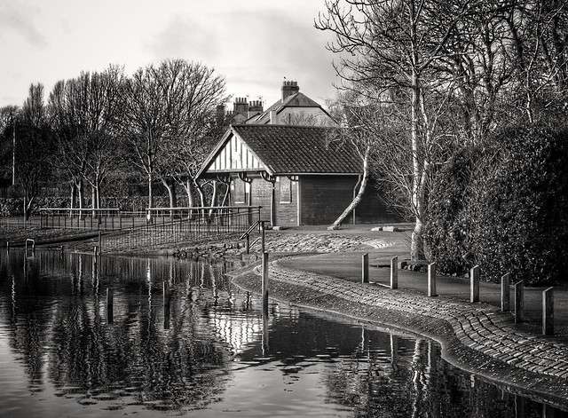 Boathouse in the park