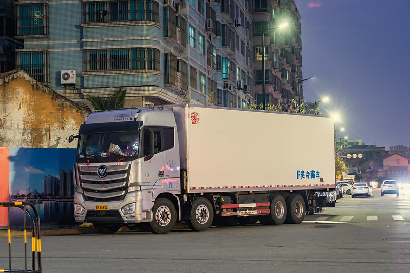 Foton-Daimler GTL 8×4 Box van truck(430hp)