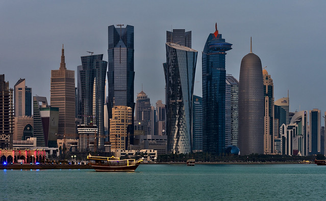 Doha skyline by day, Qatar