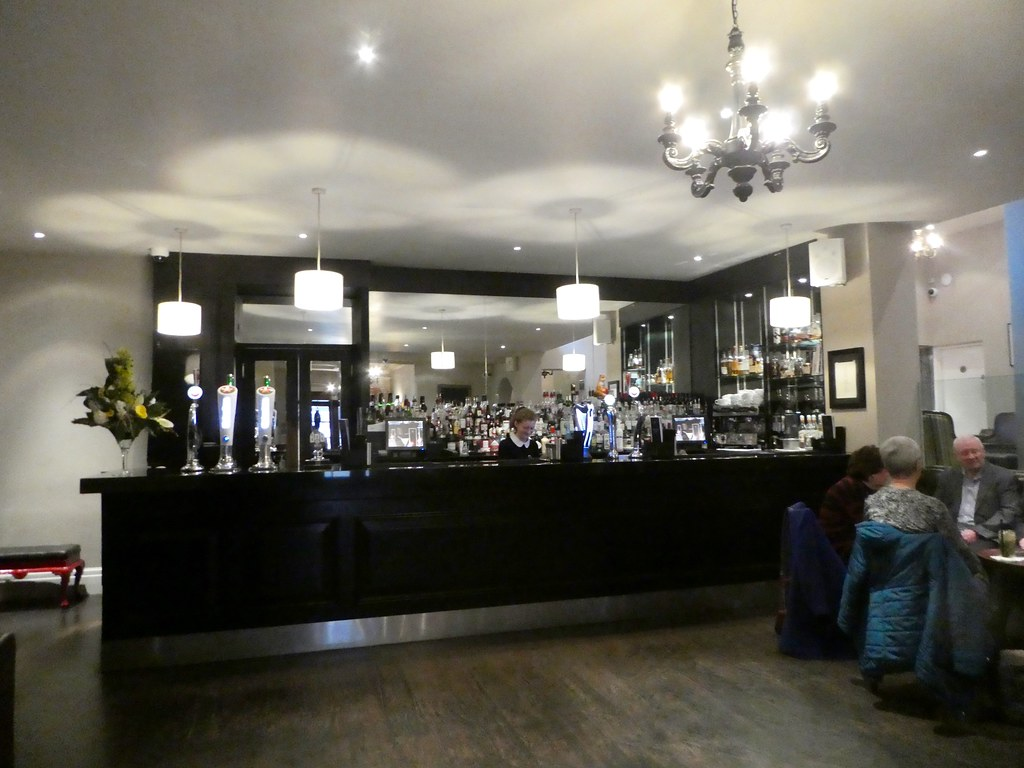 Bar lounge at The White Hart Hotel, Lincoln