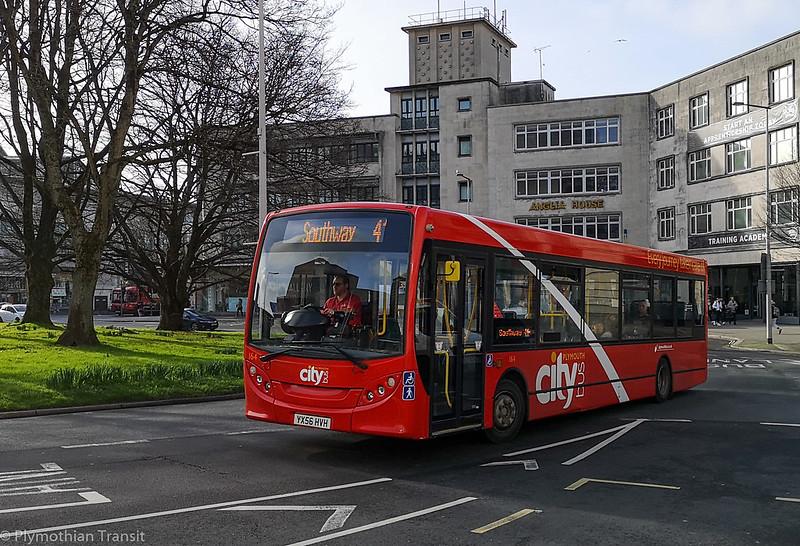 Plymouth Citybus 164 YX56HVH