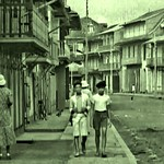 street scene in Cayenne, French Guiana - 1939