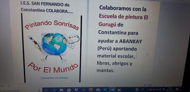 Recogida de material escolar y ropa de abrigo para Abancay, Peru