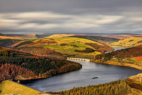 ladybower bamfordedge landscape peakdistrict hope england unitedkingdom