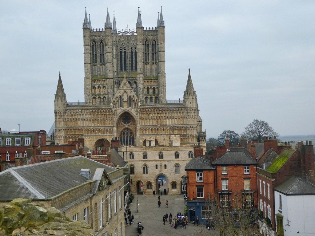 Lincoln Cathedral taken from the medieval castle walls