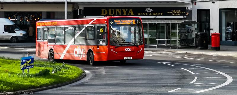 Plymouth Citybus 163 YX56HVG