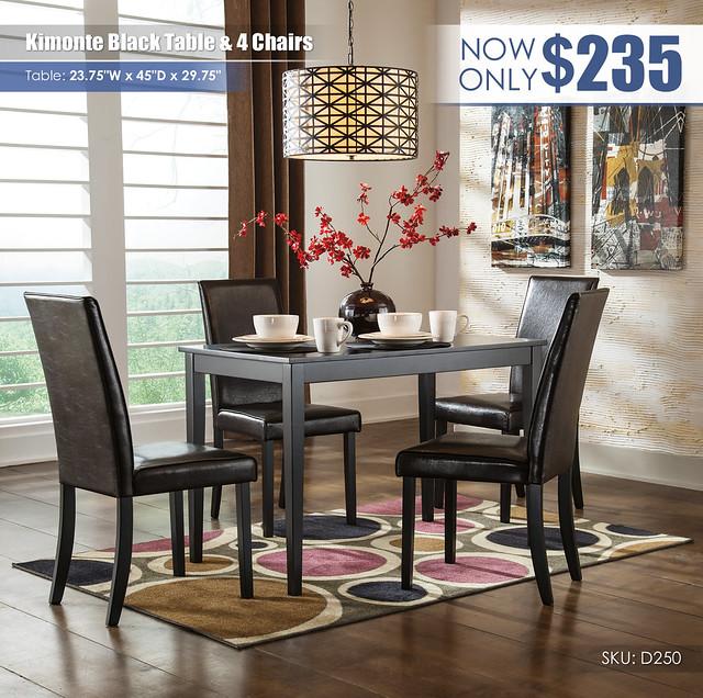 Kimonte Black 5-PC Dining Room Set_D250-25-02(4)-TAG