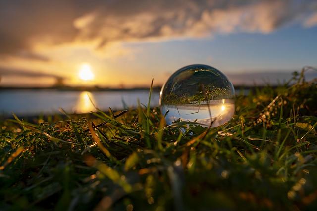 Sphere sunset