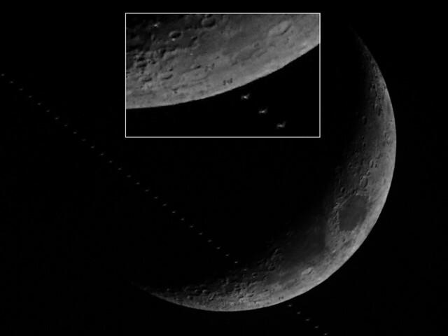 International Space Station Lunar Transit 29/01/20