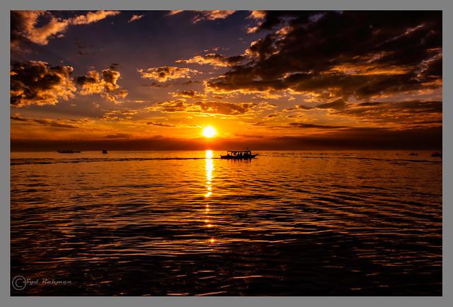 Sunset at Kampong Phulk floating village, Siem Reap, Cambodia, Asian