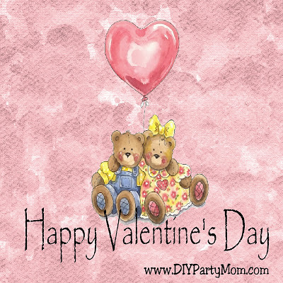 Pink Valentine Bear Couple Square by DIYPartyMom