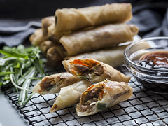 Hoisin Turkey Spring Rolls