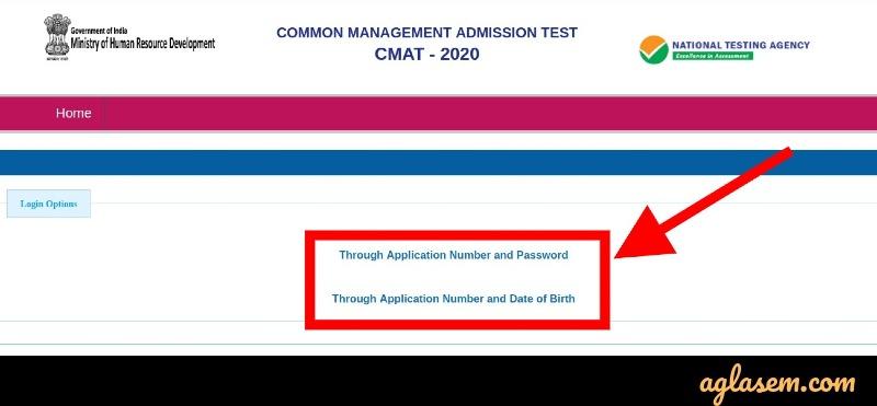CMAT 2020 candidate login