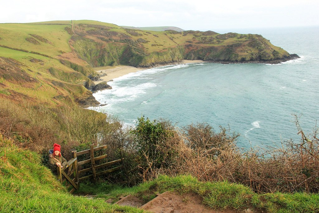 Me on South West Coast Path down to Lantic Bay, Cornwall