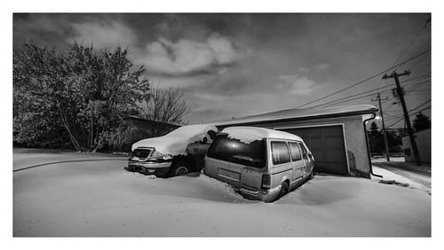 night cars laowa wideangle fujifilm xh1 snow light bw time exposure