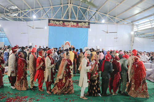 A view of Namaskar of Mass Marriage