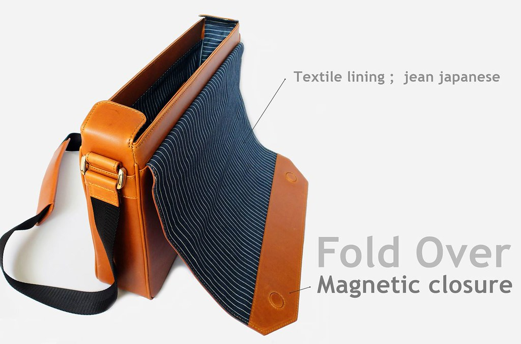 notebook bag leather fold over