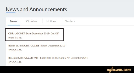 CSIR NET Result 2019 CSIR NET Result 2019-2020 (Dec) Released- Additional Result, List Of Qualified Candidates, Check Cut Offs