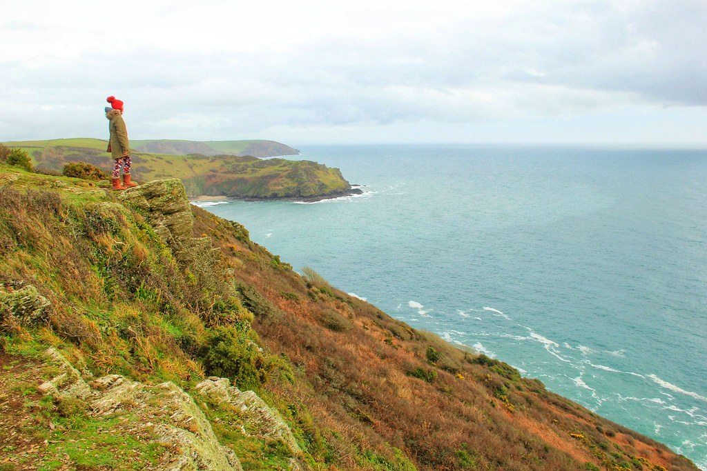 South West Coast Path between Fowey and Lantic Bay