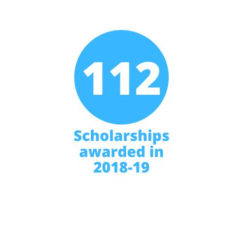 112 scholarships awarded in 2018-19