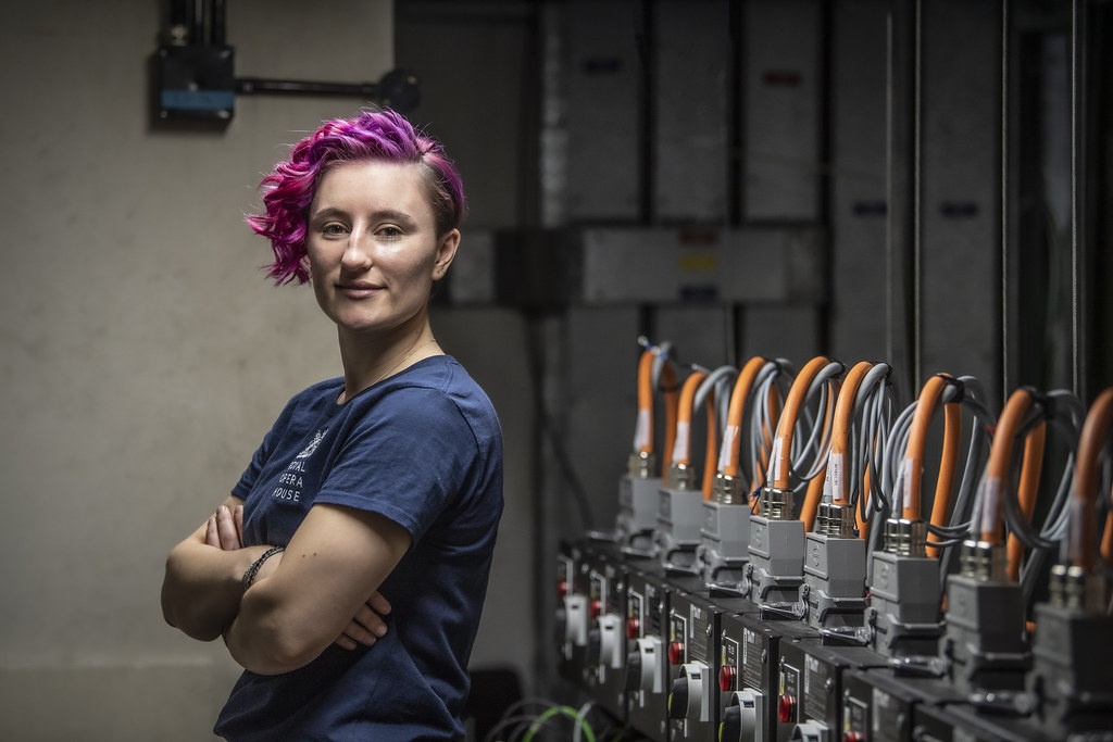 Lauren Swalwell, Flys and Automation:Mechanical Engineering ©2019 ROH. Photograph by Sim Canetty-Clarke