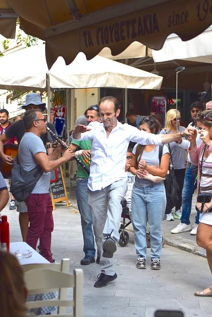 DANCING IN THE STREET, PLAKA, ATHENS, GREECE, ACA PHOTO