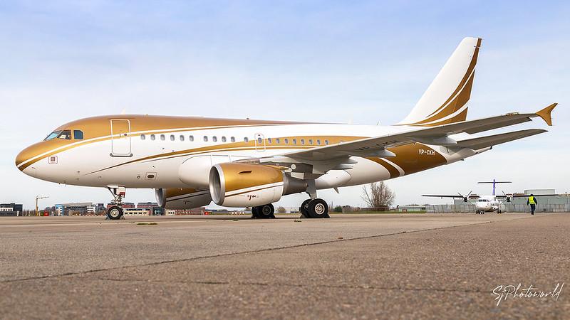 NAS Jet Airbus A318ACJ VP-CKH