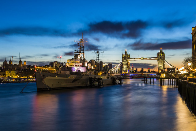 HMS Belfast & Tower Bridge - London
