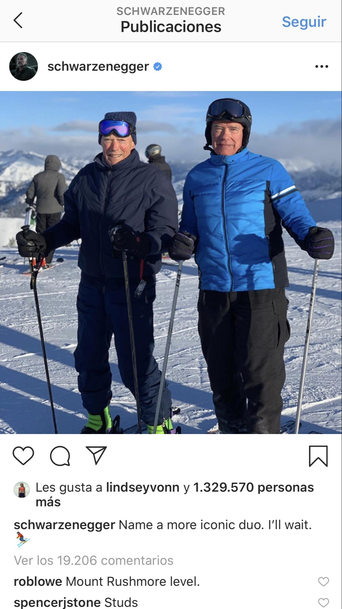 Clint Eastwood y Arnold Schwarzenegger