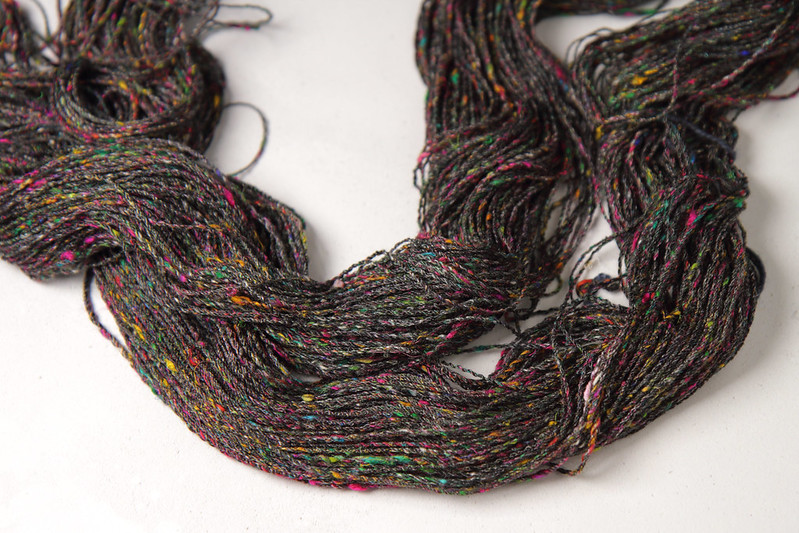 Hand spun yarn made from Karma Blend fibre