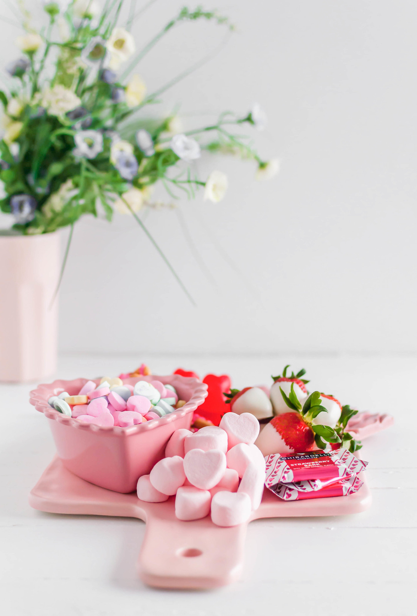This Valentine's Dessert Board is simple and delicious to put together. A few simple homemade treats filled in with adorable store-bought options.