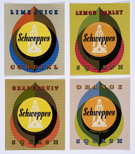 bottle-labels-for-schweppes-1960-the-estate-of-george-him