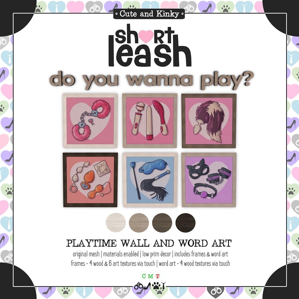 .:Short Leash:. Playtime Wall & Word Art