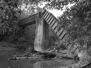 'Big Bridge' at Mather Mine in B&W