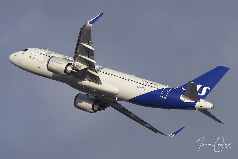 Airbus A320-251N – Scandinavian Airlines (SAS) – SE-ROJ – Brussels Airport (BRU EBBR) – 2020 01 29 – Takeoff RWY 25R – 01 – Copyright :copyright: 2020 Ivan Coninx