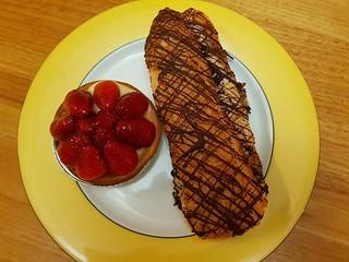 Strawberry Tart and Chocolate Custard Log from Flour of Life