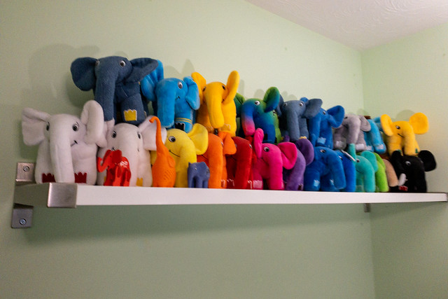 Elephpants on a shelf
