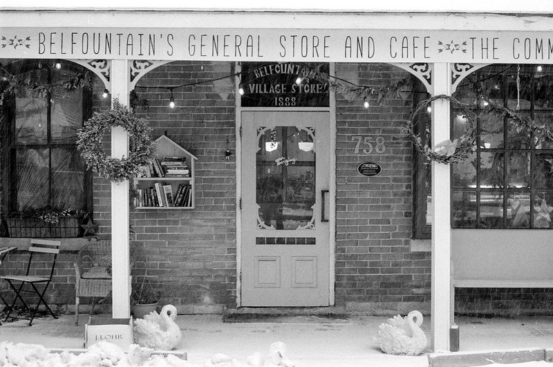 Belfountain General Store Winter Porch