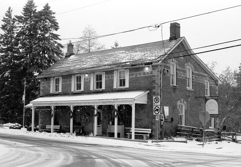 Belfountain General Store in a Snow Storm