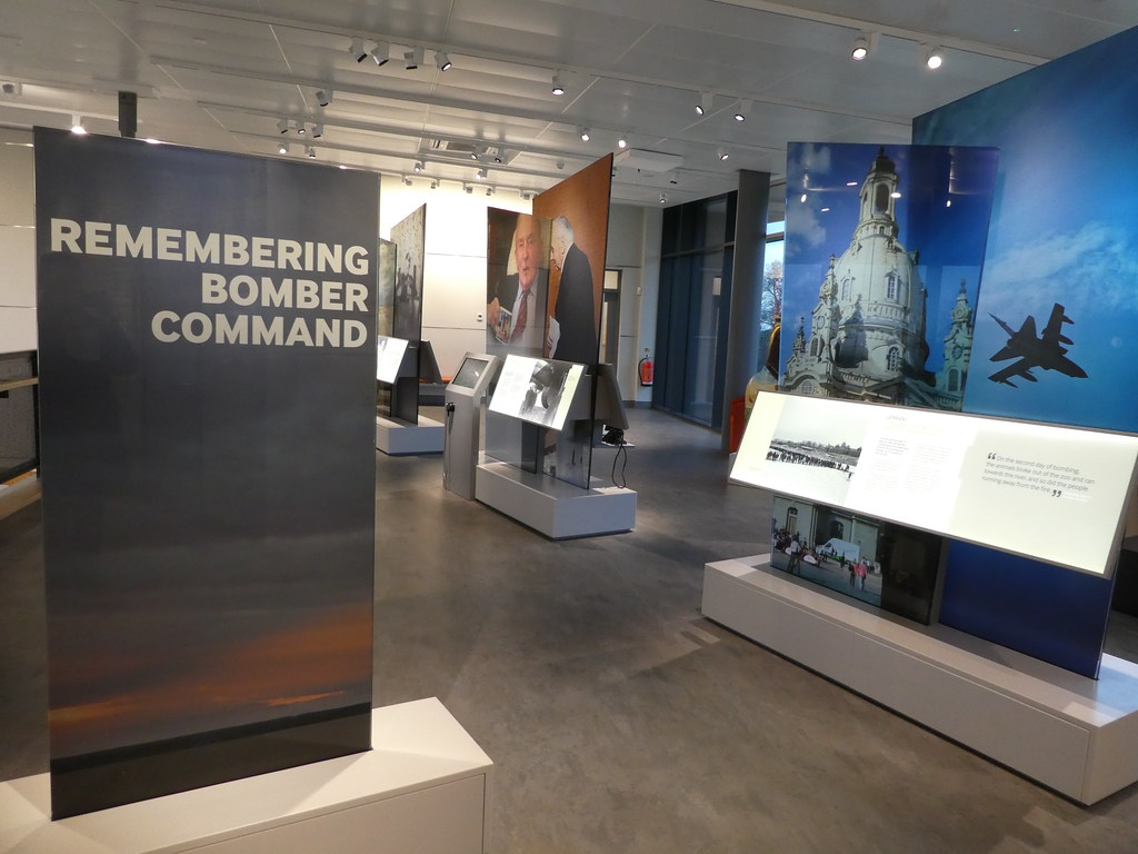 Interactive displays in the Bomber Command exhibition centre