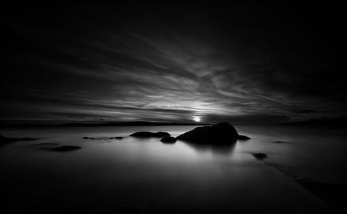 republicofireland countygalway connemaranationalpark longexposure sunset monochrome seascape clouds rocks beach leefilters marumidhgcpl atmosphere qthompson