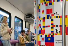 Mondrian in the Dutch train
