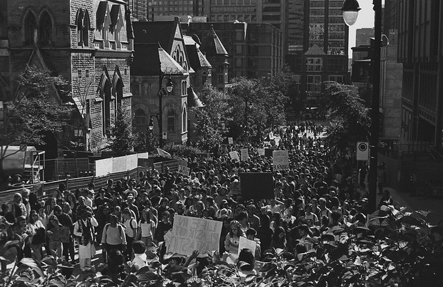 Manifestation à l'Université McGill