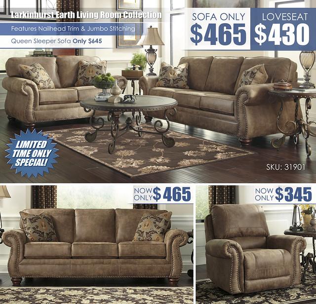 Larkinhurst Earthl Your Choice Sofa Loveseat Sleeper Recliner Layout_31901_NEW