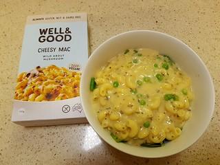 Well & Good Mushroom Cheesy Mac (with peas)