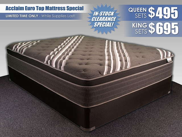 Acclaim Euro Top Mattress Special_InStockPricing